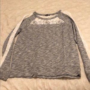 Peekaboo lace sweater